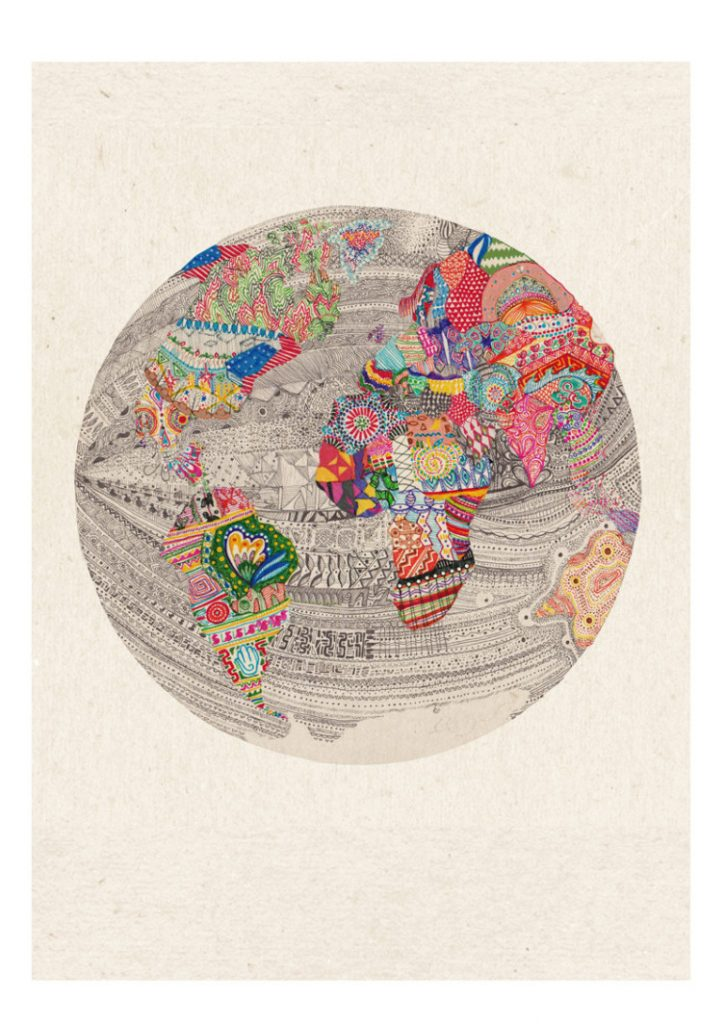 World A3 Print by Charlotte Edey