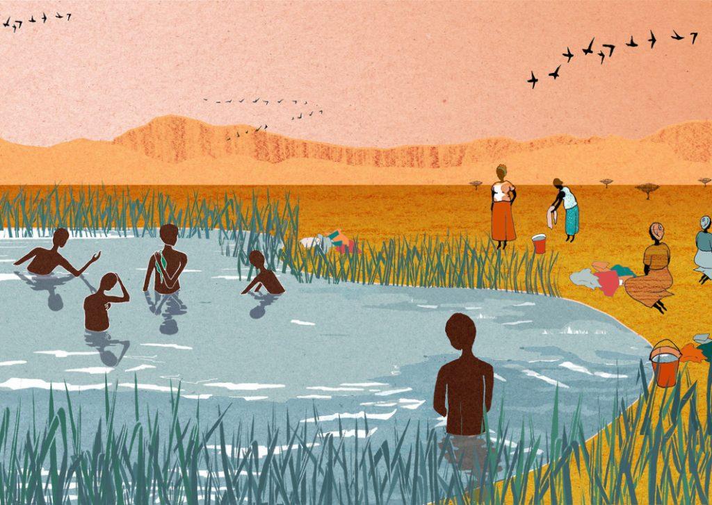 Batheing by Charlotte Edey