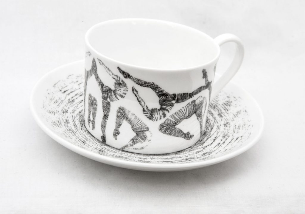 Dancers Illustrated Ceramic Tea Set by Charlotte Edey