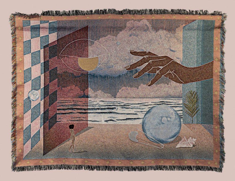 Repair Tapestry Charlotte Edey 2018 pink LR