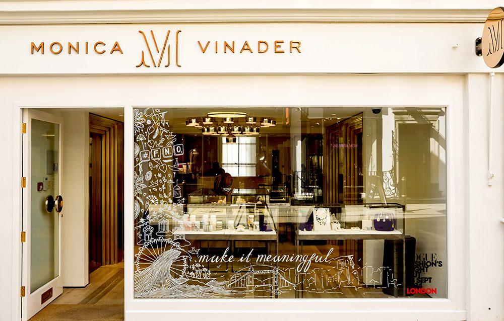 Vogue Monica Vinader Charlotte Edey Installation